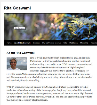 Rita Goswami's inspiring meditation blog