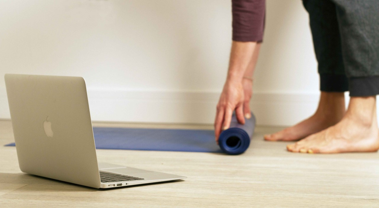 roll out yoga mat